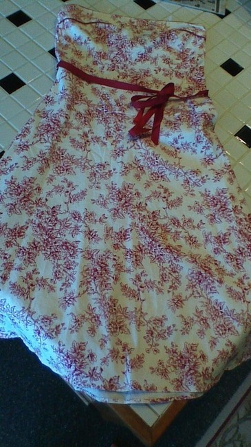 Teeze Me short dress White and Red Strapless on Tradesy