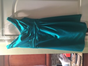 David's Bridal Green F14823 Dress