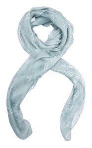 Gucci Green and White Gucci Scarf