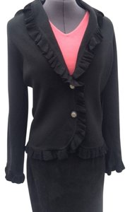 BCBGMAXAZRIA New W/tags 63% Rayon 37% Nylon Ruffle Up The Frnt & Around Botton & Cuffs Sweater
