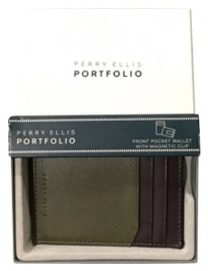 Perry Ellis Perry Ellis Front Pocket Wallet with Magnetic Money Clip