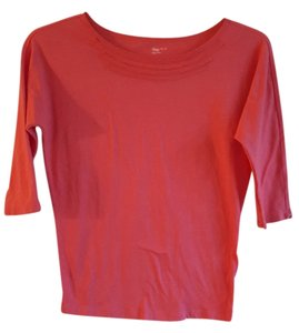 Gap 3/4 Sleeve T Shirt Coral