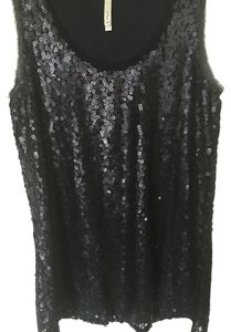 Mono B Top Black with Sequins