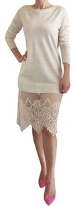 short dress Off White Lace Sweater Peek A Boo on Tradesy