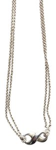 Tiffany & Co. Infinity Pendant Necklace with double chain