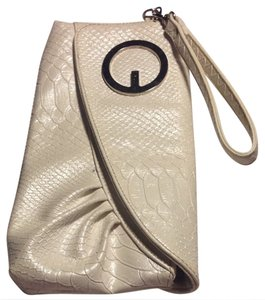 Guess Pearl White Clutch