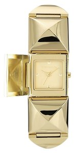 Vince Camuto Vince Camuto Gold-tone Pyramid Covered Link Bracelet Watch