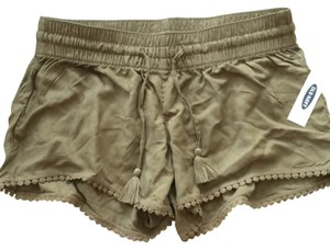 Old Navy Tassels Tie Lace Trim Mini/Short Shorts Green