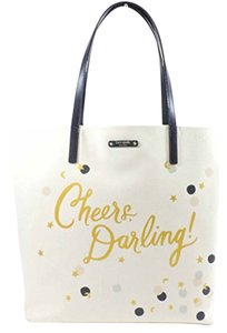 Kate Spade Champagne Fun Whimsical Tote in Ivory