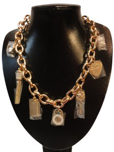 Michael Kors MIchael kors Multi Charm Necklace in Antiqued Gold Tone