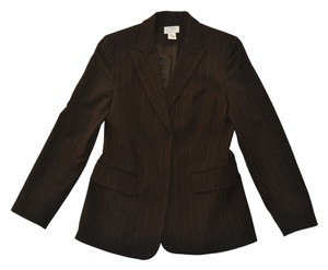 The Limited Classic Brown Wool Pinstripe Blazer
