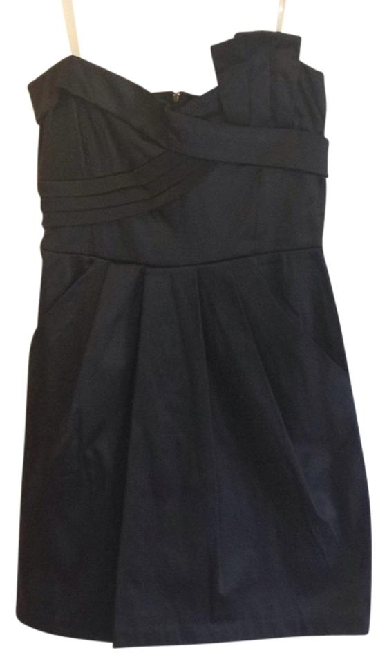 Wishes Wishes Wishes Black Strapless Mini Short Casual Dress Size 6