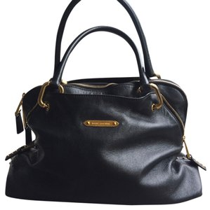 Marc Jacobs Studded Leather Satchel in Black With Gold Hardware