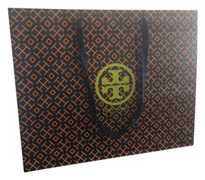 Tory Burch Large Shopping Tote in Orange/Navy