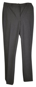 Anne Klein Trouser Pants Flannel grey with lavender & mint pinstripes