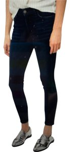 Goldsign Casual Comfortable Skinny Jeans-Dark Rinse