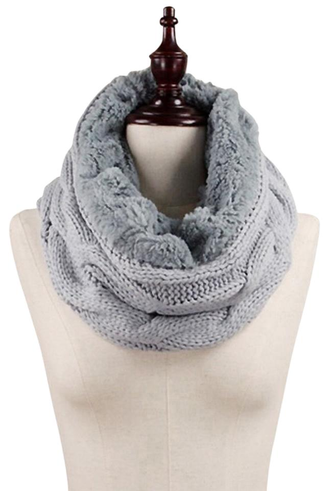 fur taupe cozy infinity faux scarf sure knit products