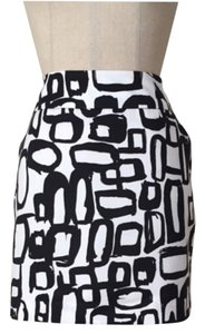 Trina Turk Mini Skirt Black & White