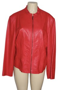 Anne Klein Red Leather Jacket
