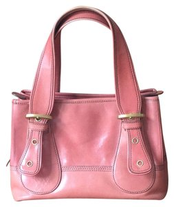 Maxx New York Satchel in Melon/ Pink Lining/Gold Buckles