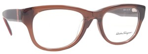 Salvatore Ferragamo SALVATORE FERRAGAMO SF2618 Eyeglasses Color 210 Crystal Brn Sz 50 mm