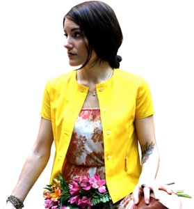 Turtle Bay Vintage Button-up Top Yellow