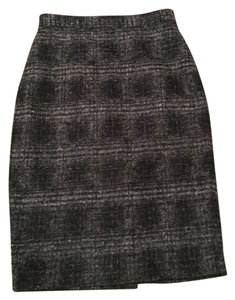 Banana Republic Wool Pencil Skirt Gray and Black