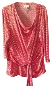 Laundry by Shelli Segal Top Orange And White Print