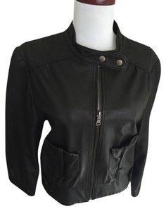 Madison Marcus Blac Leather Jacket