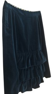 MILLY Skirt black velvet