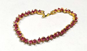 Other New 14K Gold Filled Tennis Bracelet Pink Cubic Zirconia 7 in. J1936