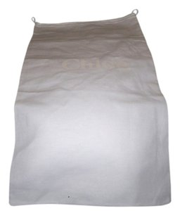 Chloé Huge Brand New Chloe' Sleeper/ Dust Bag or Protective Cover White cotton with Tan logo Size 14 width x 25 Length. Drawstring Bag