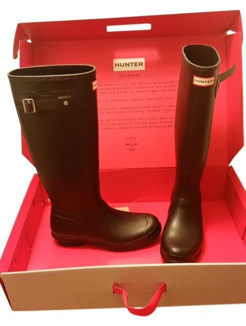 Hunter Green Box Tall New In Boots/Booties Size US 7 Regular (M, B) Hunter Green Box Tall New In Boots/Booties Size US 7 Regular (M, B) Image 1