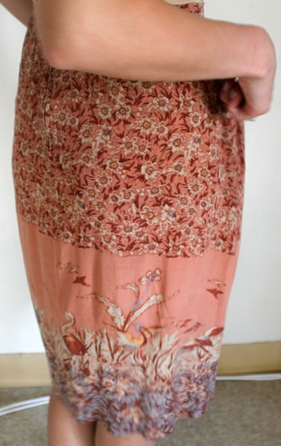Carole Little Vintage Silk Skirt Multi