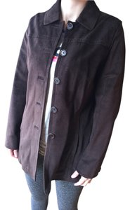 Coach Coat Brown Suede Leather Jacket