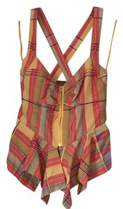 Anthropologie Top Plaid
