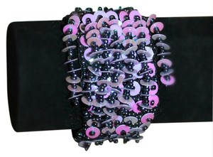 Beautiful Lilac and Purple Bead and Sequin Bracelet