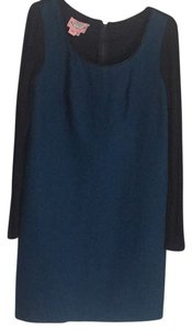 Phoebe Couture short dress Blue/Black on Tradesy