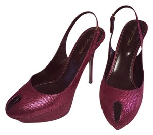 Sergio Rossi Dustbag Dark Red Pumps