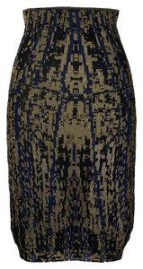 Chanel Skirt Blue & Gold