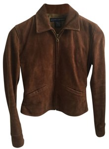 Ralph Lauren Suede Zip-up Small Montecito Leather Jacket