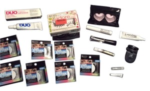 Lash Attitude & Duo Lash Attitude Exotic Eyelashes W/ Duo Glues & Eylash Curler~RTL $80