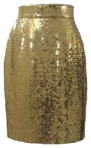 Moschino Skirt Couture! Gold Sequin
