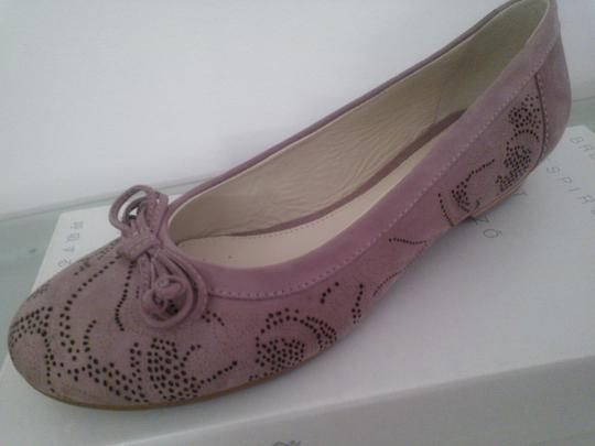 Geox Perforated Rose, Nubuck leather Flats