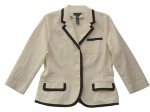 Lauren Jeans Company Sporty Cream Cotton Blazer