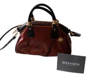 Brahmin Leather Satchel in Cognac