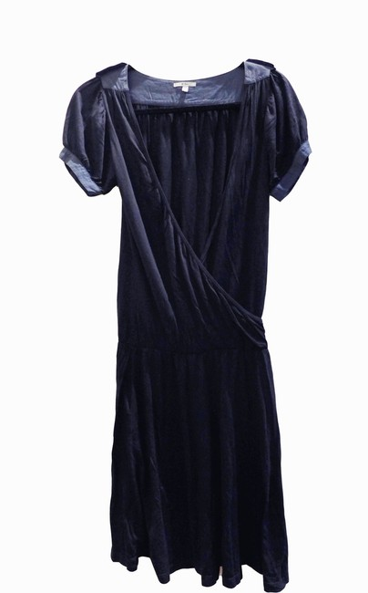 Clu Navy Short Casual Maxi Dress Size 4 (S) Clu Navy Short Casual Maxi Dress Size 4 (S) Image 1