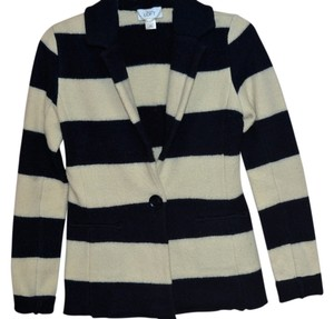 Ann Taylor LOFT Bold Casual Navy and White Stripe Jacket