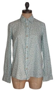 A.P.C. Butterflies Print Button Down Shirt MULTI COLOR