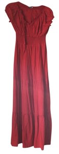 Red persimmon Maxi Dress by Earthbound Trading Co